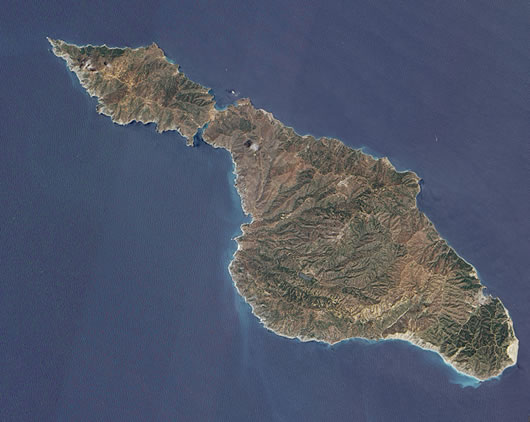 Catalina Island Satellite view
